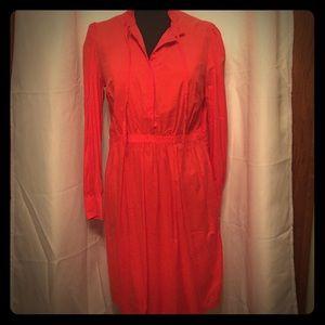 Merona Orange Shirt Blouse Dress 14